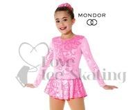 Metallic Pink Damask Ice skating Dress by Mondor