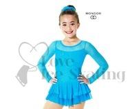 Mondor 636 Tropical Blue Sparkly Mesh Figure Skating Dress