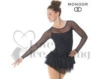 Mondor 636 Black & Sparkling Mesh Ice Skating Dress 12-14