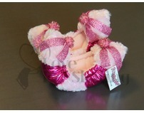 Fuzzy Soakers Pink Sparkle with Glitter Bows