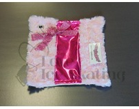 Fuzzy Soakers Pink Glitter Bows with Pink Fur Towel
