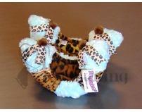 Fuzzy Soakers Cheetah Print with Aqua Mint Blue Fur