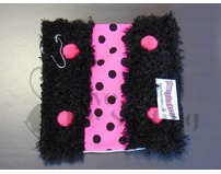 Fuzzy Soakers Blade Towel Black and Hot Pink Polka Dot