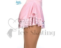 Ice Skating Skirt by Jerrys 304 Pink & Silver Glitter Swirl