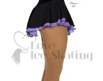 Jerry's Double Georgette Ice Skating Skirt Black & Purple
