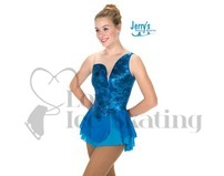 Ocean Blue Foil & Glitter Skating Dress Jerry's 252 Aurellia