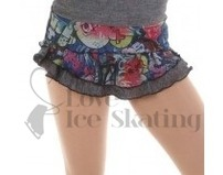 Graffiti Collection Double Layered Ice Skating Training Skirt Age 8-10