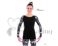 Black with White SK8 Top by Jerry's Elite Xpressions Adult Small