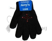 Jerry's Black Skating Gloves with Ruby Stones