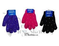 Ice Skating Gloves with Rhinestone Crystals by Jerrys