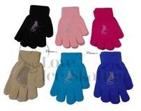 Chloe Noel Ice Skating Coloured Gloves with Crystal Skate