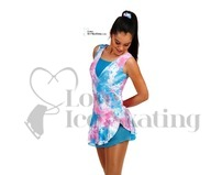 Intermezzo Pink and Blue Tie Dye Sleeveless Skating Dress Age 10