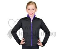 Chloe Noel  J48 Ice Skating Jacket Black and Purple CXL
