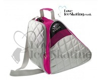 Pink & Silver Edea Techno Quilted Ice Skating Bag