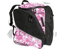 Pink & White Snowflake Transpack Ice Skating Bag