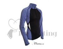 ES Melange Ultra lightweight long sleeve top Blue