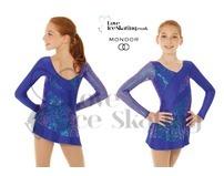 Mondor 661 Sapphire Blue Glitter Figure skating Dress