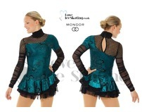 Mondor 12925 Black & Turquoise Fantasy on Ice Dress