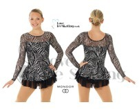 Mondor 663 Black & Silver Ice skating Dress