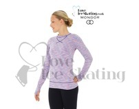 Mondor Blue Lilac 4501 Strata Ice Skating Training Top