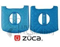 Zuca Heather Seat Cushion Aqua Reverse