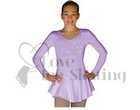 ChloeNoel DLP728 Ice Skating Dress Lilac with Snow Flakes