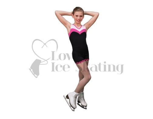 Chloe Noel  Practice Shorts Black with Fuchsia Dots