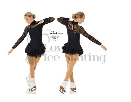 Mondor 665 Black Figure Skating Dress