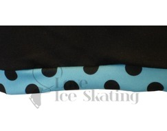 Chloe Noel Ice skating Shorts Black with Turquoise Dot