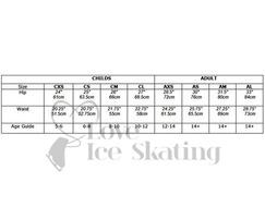 Ice Skating Shorts Black with Rhinestone Sit Spin Figure skater