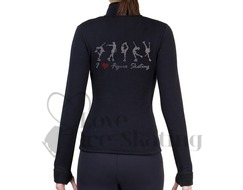 NY2 Ice Skating Leggings Rhinestones Skaters
