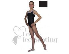 Chloe Noel Leotard GL317 Black with Contrast Straps in Black