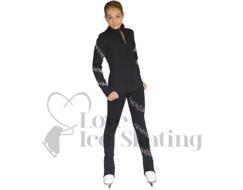 Chloe Noel AB Crystal Spiral Jacket & Leggings Set