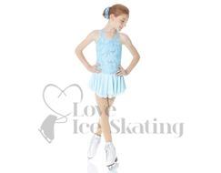 Mondor 12916 Blue Lace Figure Skating Dress