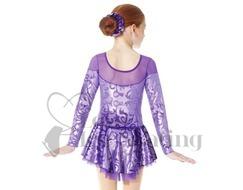 Mondor Purple Damask Figure Skating Dress 2760