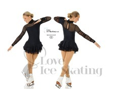 Mondor 665 Black Figure Skating Dress