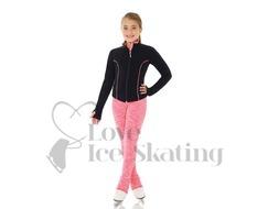 Mondor 4551 Pink Yellow Strata Ice Skating Leggings